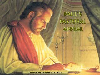 PAUL'S PASTORAL APPEAL