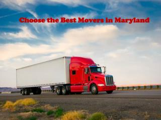 Choose the Best Movers in Maryland