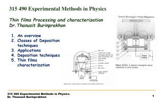 315  490 Experimental Methods in Physics