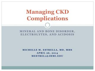 Managing CKD Complications