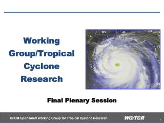 Working Group/Tropical Cyclone Research