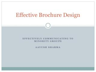 Effective Brochure Design