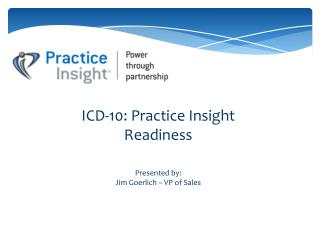 ICD-10: Practice Insight Readiness