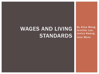 Wages and living standards