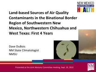 Dave DuBois NM State Climatologist NMSU