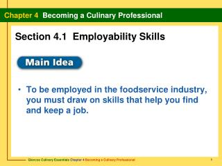 Section 4.1  Employability Skills