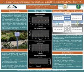 Modeling Mercury Interactions with Sediments at East Fork Poplar Creek, Oak Ridge, TN