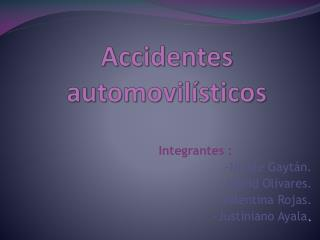 Accidentes automovilísticos