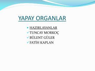 YAPAY ORGANLAR