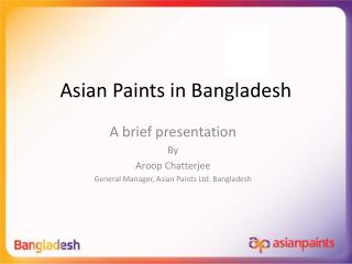 Asian Paints in Bangladesh