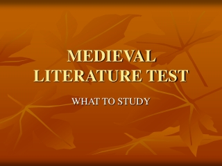 Middle Ages and Chaucer Test Review Powerpoint