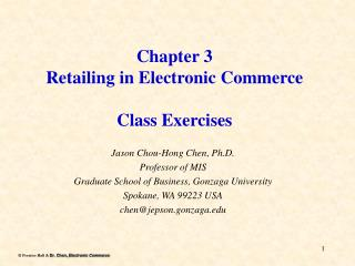 Chapter 3 Retailing in Electronic Commerce   Class Exercises