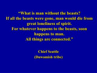 Chief Seattle  (Duwamish tribe)