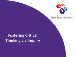 Fostering Critical Thinking via Inquiry