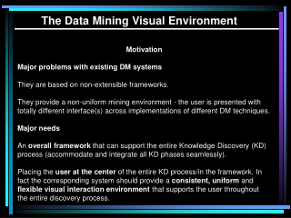 Knowledge discovery  data mining   Towards KD Support Environments