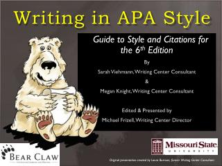 Writing in APA Style