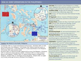 EOA 13: JOINT OPERATIONS IN THE PHILIPPINES I