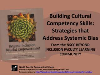 Building Cultural Competency Skills: Strategies that Address Systemic Bias