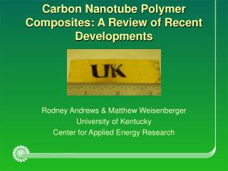 Carbon Nanotube Polymer Composites: A Review of Recent Developments