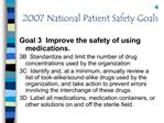 2007 National Patient Safety Goals