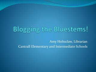 Blogging the Bluestems!