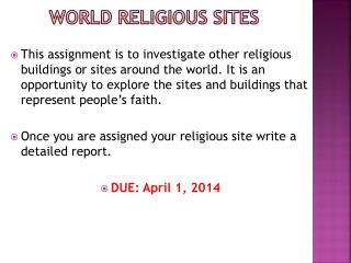 World religious sites