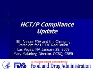 HCT/P Compliance Update