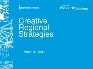 Creative Regional Strategies