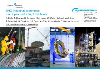 BNG Industrial  experience  on Superconducting Undulators