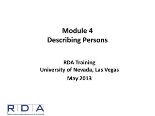 Module  4 Describing Persons