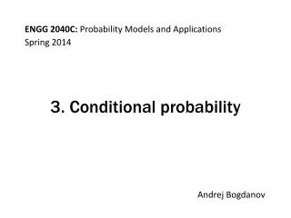 3. Conditional probability