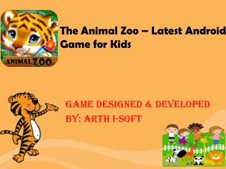 The Animal Zoo - Latest Zoo Game for Kids