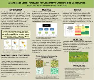 LANDSCAPE-SCALE COOPERATION Landscape–scale collaboration on conservation issues can: