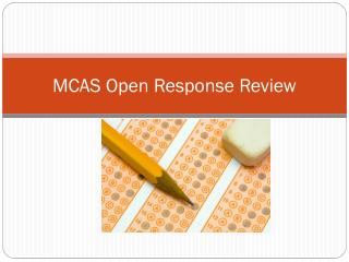 MCAS Open Response Review