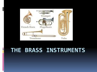 The Brass Instruments