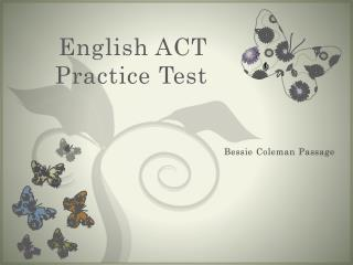 English ACT  Practice Test