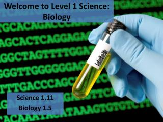 Welcome to Level 1 Science: Biology