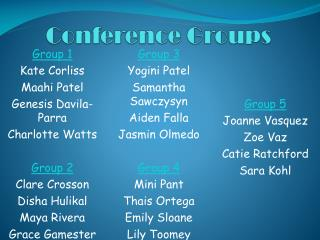 Conference Groups
