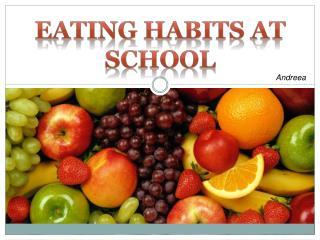 eating habits at school