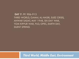 Third World, Middle East, Environment