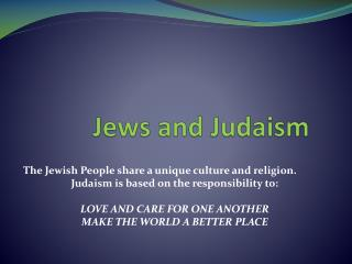 Jews and Judaism