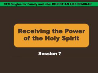 Receiving the Power of the Holy Spirit