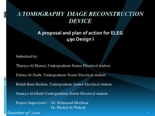 A Tomography  Image Reconstruction Device