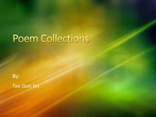 Poem Collections