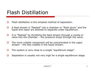 Flash Distillation