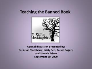 Teaching the Banned Book