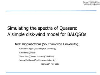 Simulating the spectra of Quasars: A simple disk-wind model for  BALQSOs