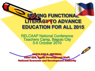 MOVING FUNCTIONAL  LITERACY TO ADVANCE EDUCATION FOR ALL 2015