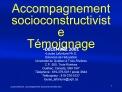 Accompagnement socioconstructiviste T moignage