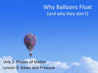 Why Balloons Float (and why they don't)